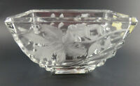Vintage FTD Planter, Vase or Candy Dish Over 24% Lead Crystal Made in Germany