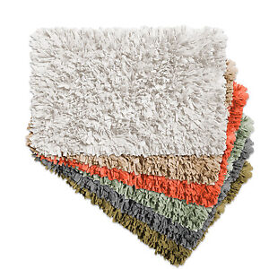 "Cotton Blend Bath Bathroom Rug Mat Paper Shag Design 21""x34"""