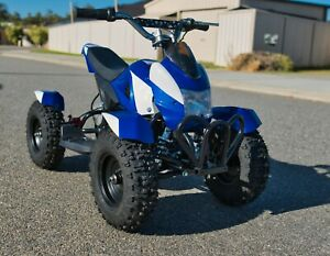 Kids Ride on car Electric Mini Dirt Quad Bike Off Road 24v 350watts ATV UTV BLUE