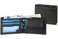 Rimbaldi® Herren Geldbörse im Querformat aus feinem Nappa Leder in Schwarz