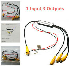 12V Car 1-3 Channels Video Monitor Booster Headrest Roof Cable Splitter DVD RCA