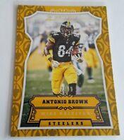 2016 Panini Antonio Brown Parallel Insert Card #161 S# /99 Steelers Great SP