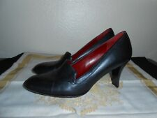 "BCBG Paris Womens Shoes Size 6.5 Black Leather Pumps 3"" Heels FREE SHIPPING!"