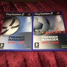 premier manager 2005 - 2006 2006 - 2007 ps2 playstation 2