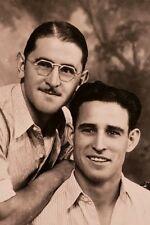 VINTAGE PORTRAIT TWO DUDES YOUNG MEN VERNACULAR  PHOTOGRAPHY GAY INT FINE PHOTO