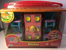 Dora The Explorer Dining Table Chairs Kitchen Set Dollhouse Furniture-New in Box