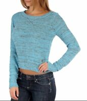 $56 Fox Racing Women's Throwback Crop Sweater In Frost Blue Size XS