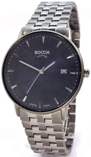 Boccia Men's Digital Quartz Watch With Titanium Strap 3607-03