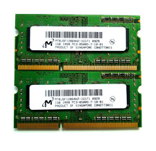 2 x 1gb = 2gb ddr3 8500s 1066 1067mhz di RAM memoria MacBook Pro 2008-2011