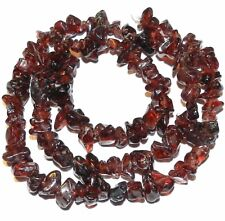 NG1259f Natural Red Garnet Small 4mm - 7mm Polished Chip Gemstone Beads 15""