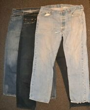 3 PAIRS men's LEVI'S 501 W38 L32 vintage WORK JEANS rip spare repair worn out
