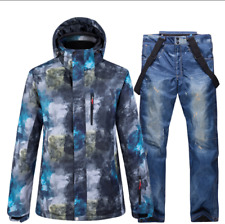 Men Warm Waterproof Coat+Pant Set Outdoor Ski Clothes Snowboard Jacket Snowsuits