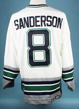 1993-96 Geoff Sanderson CCM Hartford Whalers Authentic Home Jersey MEARS COA