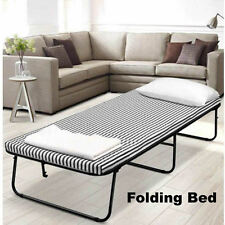 Portable Deluxe Folding Bed With Mattress Camping Outdoor Indoor Single Size
