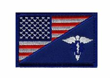 MEDIC EMT EMS USA FLAG TACTICAL COMBAT MORALE 3 INCH VECO HOOK PATCH  (MF5)