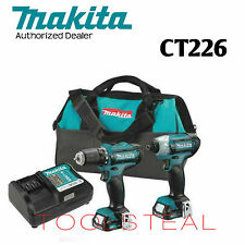 "Makita CT226  ""A Grade"" 12V MAX CXT Li Ion Cordless 2 Pc. Kit (1.5Ah) w/WARRANTY"