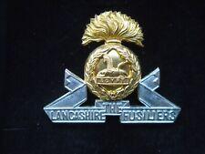 More details for the lancashire fusiliers officers presentation cap badge  birmingham mint