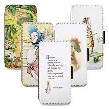 Peter Rabbit Design Flip Phone Case Cover Wallet - Fits Iphone 5 6 7 8 X 11