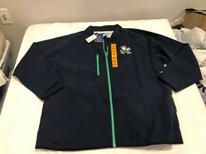 NWT $80.00 Champion Notre Dame Mens Fightin Irish Jacket Navy Blue Sz MEDIUM