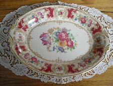 """Vintage Syracuse China ROMANCE MAROON Old Ivory 12 1/4"""" Platter ~"""