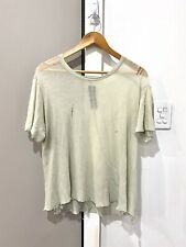 RICK OWENS - Distressed T Shirt Sz.S 100% Genuine. 9/10 Distressed Condition