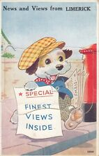IRELAND, NEWS AND VIEWS FROM LIMERICK, MAIL NOVELTY CARD 12 MINI PICTURES
