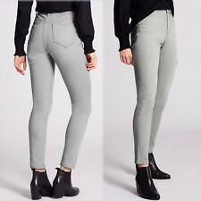 M&s Indigo Mid Rise SKINNY Leg Jeans Size 18 Regular Grey