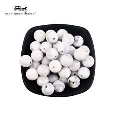 Mamimami Home Silicone Beads Marble 25pc Round Small Size 12mm Baby Silicone DIY