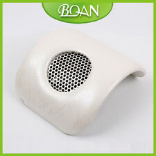 Beige Nails Art Table With Exhaust Fan Manicure Cyclone Nail Dust Collector