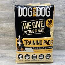 DOG for DOG 50 Ct Training Pads Instant Dry Gel Super Absorbent Tear-Resistant