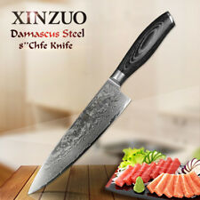 XINZUO 8 inch chef knife Damascus steel knife Best kitchen knife tools Cooking