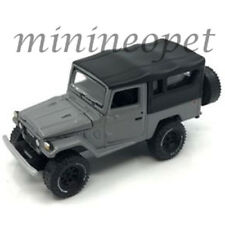 JOHNNY LIGHTNING JLCP7030 1980 TOYOTA LAND CRUISER 1/64 BLACK SOFT TOP GREY