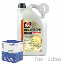 Engine Oil and Filter Service Kit 5 LITRES Millers NANODRIVE EE 5w-30 C3 5L