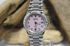 WOMEN'S CITIZEN EW0890-58X ECO-DRIVE RIVA DIAMOND ACCENT WATCH WITH PINK DIAL