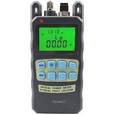 Egomall Fiber Optic Cable Tester -70 to 10dbm and 1mw 3.1mi Portable Optical Po