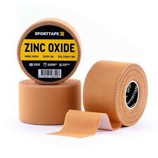 3 ROLLS - SPORTTAPE Zinc Oxide Tan Tape - 2 Sizes - Ankle Strapping Blister Tape