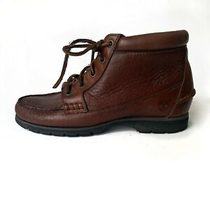 Timberland Women's Vintage Moc Toe Chukka Leather Hiking Boot size 7.5 Brown