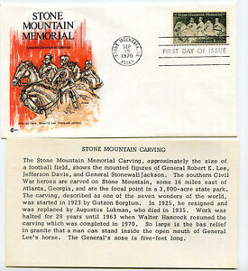 1408 Stone Mountain Memorial, Cover Craft Cachets, CCC, FDC