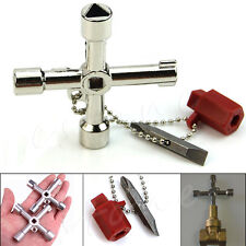 5 In 1 Universal Cross Square Triangle Train Electrical Cabinet Elevator Key New
