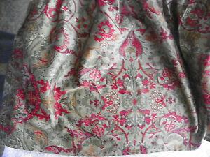 RALPH LAUREN-RANDOLPH RED-WESTERN KING BEDSKIRT COTTON SATEEN-SPLIT CORNERS