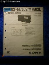 Sony Service Manual ICF M760S /M760SL  PLL Synthesized Radio (#5502)