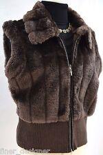 Essentials by Milano Shearling Faux Fur vest knit Coat zip Jacket Plush SZ XL