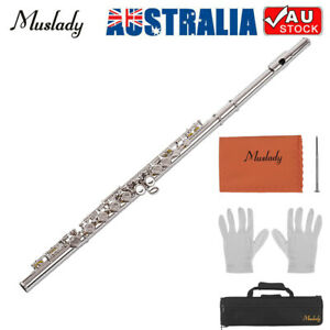 Muslady 16 Holes Closed Hole Flute C Key Flutes For Beginners Student