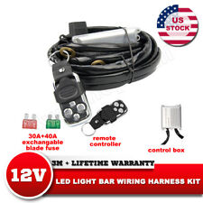 2Leads 40A  Wiring harness Kit With Wireless Remote Control For LED Light Bar