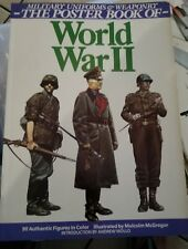 Military Uniforms & Weaponry of World War II  Poster Book Andrew Mollo 1987