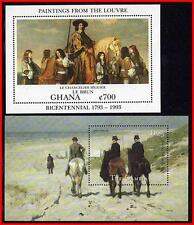 DUTCH & FRENCH PAINTINGS with HORSES x2 S/s MNH ANIMALS (K-J18)