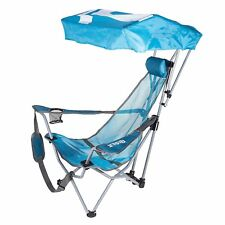 Kelsyus Backpack Beach Portable Camping Folding Lawn Chair with Canopy, Teal