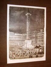 Rarissima veduta di Roma nel 1876 Musica in Piazza Colonna