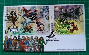 2021 DC Collection Justice League Miscut M/S Ex- Press Sheet FDC Wonder Street
