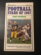 Football Stars of 1967 by Berry Stainback (Paperback book of 127 pages)